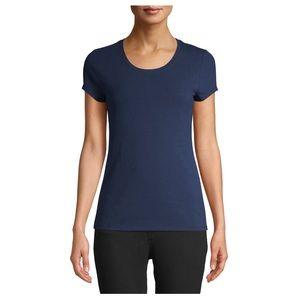 NO BOUNDARIES Medium Navy Blue Short Sleeve Top